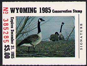 1985 Wyoming Canada Geese